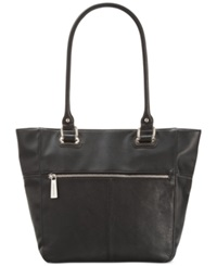 Tignanello Perfect Pockets Leather Medium Tote Black