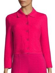 Agnona Cropped Wool Blend Jacket Ibiscus