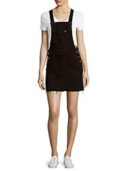 7 For All Mankind Solid Three Pocket Overall Dress Black