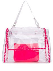 Orciani Clear Tote Bag Neutrals