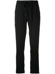 Eleventy Straight Trousers Women Polyester Spandex Elastane Acetate Viscose 40 Black