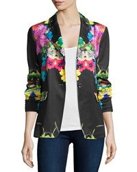 Berek Flower Pop Two Button Jacket Women's Black Multi