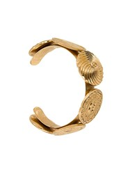 Chanel Vintage Cc Logo Medallion Bangle Metallic