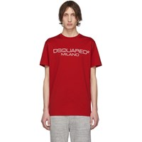 Dsquared2 Red Logo T Shirt