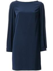 Gianluca Capannolo Studded Cuff Dress Women Polyester Triacetate 46 Blue