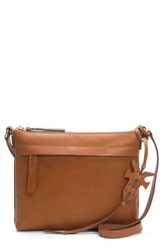 Frye Carson Leather Crossbody Bag Brown Cognac