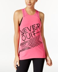 Ideology Never Quit Graphic Racerback Tank Top Only At Macy's Motlen Pink