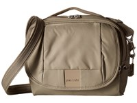 Pacsafe Metrosafe Ls140 Compact Shoulder Bag Sandstone Cross Body Handbags Beige