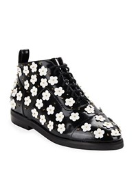 Isa Tapia Winston Floral Ankle Boots Black