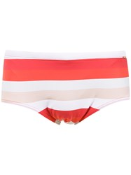 Amir Slama Striped Swim Briefs Red