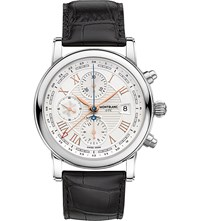 Montblanc 113880 Star Carpe Diem Roman Chronograph Stainless Steel Red Gold And Leather Watch