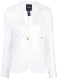 Smythe Slim Fit Suit Jacket White
