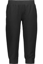 Yummie Tummie By Heather Thomson Cropped Stretch Jersey Pants Black