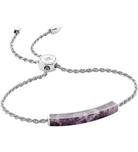 Monica Vinader Linear Sterling Silver And Amethyst Bracelet