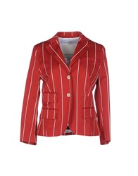 Henry Cotton's Suits And Jackets Blazers Women Red