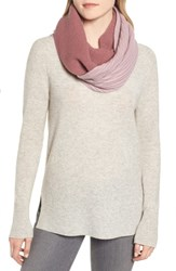 Halogen Double Stitch Cashmere Infinity Scarf Burgundy Combo
