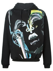 James Long Painterly Portrait Sweatshirt Black