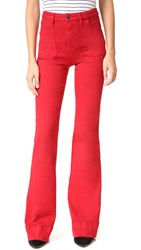 Alice Olivia Juno High Waisted Wide Leg Jeans Ruby