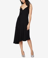Rachel Roy Lace Asymmetrical Slip Dress Black