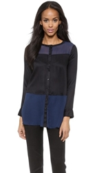 Autograph Addison Button Down Tunic Black