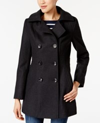 Nautica Hooded Double Breasted Peacoat Charcoal