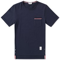 Thom Browne Medium Weight Jersey Pocket Tee Blue