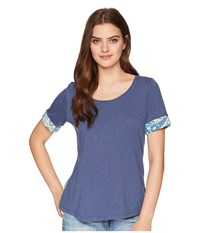Aventura Clothing Element Short Sleeve Top Blue Indigo