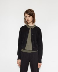 Mhl By Margaret Howell Thermal Cardigan Black