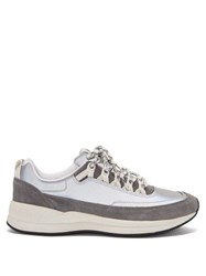 A.P.C. Jay Reflective Low Top Trainers Silver