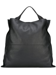 Jil Sander Square Single Handle Tote Black