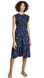 Lost Wander Pick Me Midi Dress Navy Floral