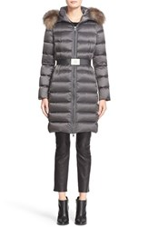 Moncler Women's 'Tinuviel' Belted Down Puffer Coat With Genuine Fox Fur Trim