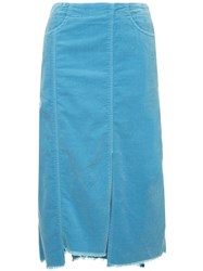 08Sircus Midi Straight Skirt Blue