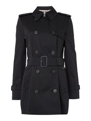 Aquascutum London Jennifer Double Breasted Raincoat Black