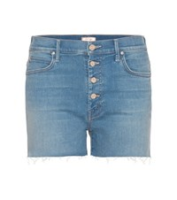 Mother Rascal Pixie Denim Shorts Blue