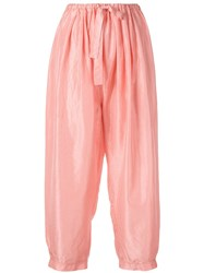 Forte Forte Cropped High Waisted Trousers Pink