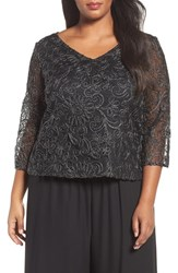 Alex Evenings Plus Size Women's Soutache Blouse