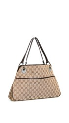 Wgaca What Goes Around Comes Around Gucci Brown Canvas Eclipse Tote