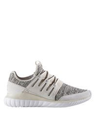 Adidas Tubular Radial Leather Trimmed Running Sneakers Brown