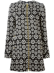 Fausto Puglisi Circle Print Zipped Coat