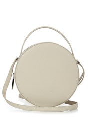 Pb Ab38 Leather Cross Body Bag Light Grey