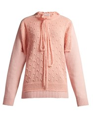 J.W.Anderson Panelled Lambswool Blend Sweater Pink