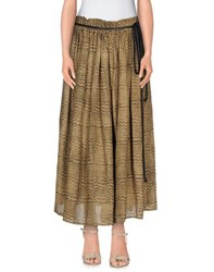 Malloni Skirts 3 4 Length Skirts Women Beige