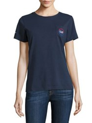 Vineyard Vines Short Sleeve Usa All Day Pocket Tee Blue Blaze