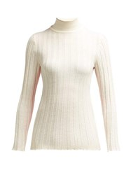 Marni Contrast Panel Wool Sweater Ivory Multi
