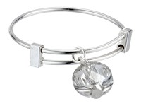 Alex And Ani Silver Shade Swarovski Crystal Expandable Ring Silver Ring