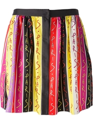 Emanuel Ungaro Paris Print Pleated Skirt