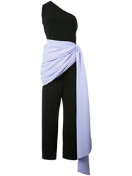 Christian Siriano Wrapped Waist Jumpsuit Black