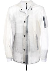 11 By Boris Bidjan Saberi Zipped Fitted Jacket Nude And Neutrals