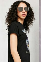 Urban Outfitters Rendezvous Rimless Cat Eye Sunglasses Silver